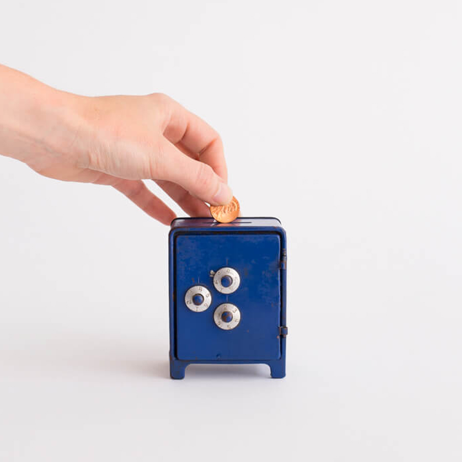 BLUE SAFE MINI PIGGY BANK